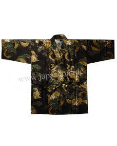 Japan. Jacke Drachen Kiefer schwarz