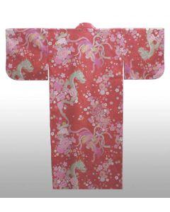 Damen Kimono Drachen-Phoenix rot
