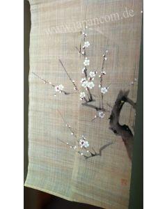 Noren Pflaumenblüte, Leinen, lang