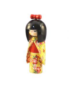 Kokeshi Puppe Osumashi gelb 16,5cm
