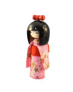 Kokeshi Puppe Osumashi pink 16,5cm