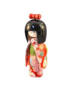 Kokeshi Puppe Osumashi rot 16,5cm