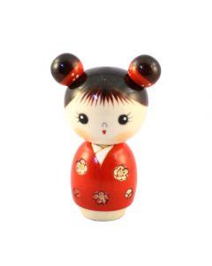 Kokeshi Puppe Mujaki rot 13,2cm