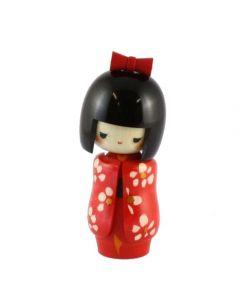 Kokeshi Puppe Otomesode rot 16cm