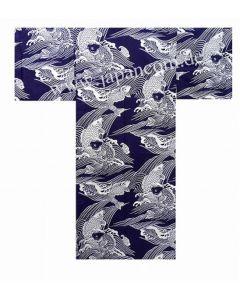 Yukata Koi Karpfen blau L