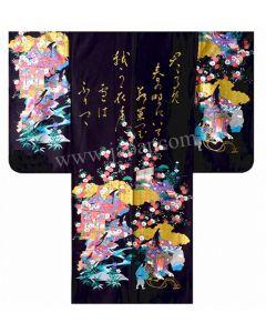 Kimono Furisode Princess schwarz