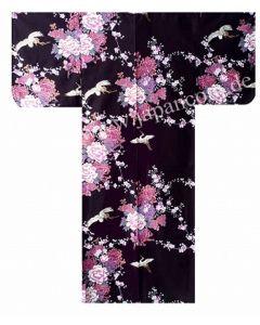 Kimono Fliegender Kranich schwarz