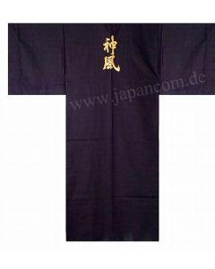 japanischer Herren Kimono Göttlicher Wind (Kamikaze) schwarz