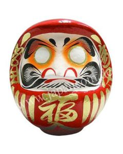 Daruma Puppe 26 cm rot - Japanischer Glücksbringer