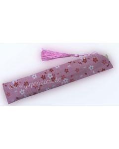 Fächertasche Etui Kirschblüte pink