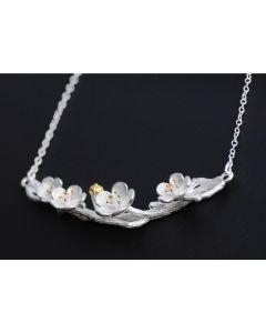 Silberkette Kirschblüten silber-gold