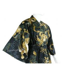 Kimono Drachen Kiefer schwarz gefüttert