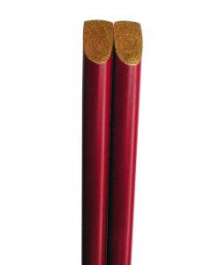 Essstäbchen rot mit gold 22,5cm