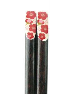 Essstäbchen Rote Blumen 23 cm