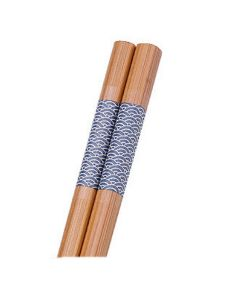 Essstäbchen Bambus Wellen 24 cm