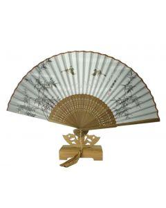 Fächer Bambus braun