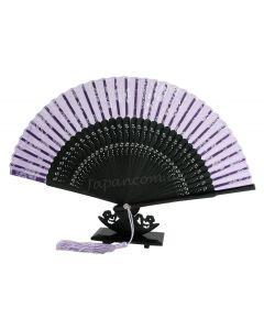 Fächer Shiroi Hana violett 1.