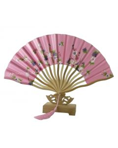 Gebogener Fächer Kirschblüten pink 21cm