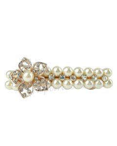 Haarspange Perlen weiss