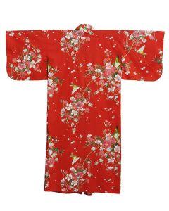 Damen Kimono Hana rot