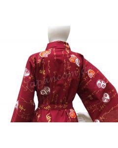 Knielanger Kimono Happi Daruma rot für Sie und ihn