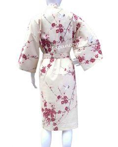 Happi Kimono Cherry Blossom beige kurz