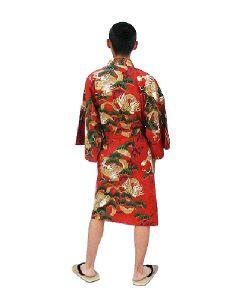 Happi Kimono Drachen Kiefer rot