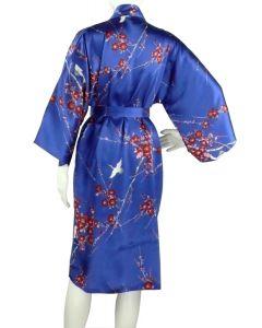 Seidenkimono Cherry Blossom blau kurz