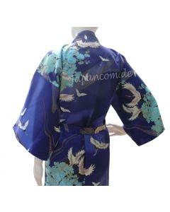 Happi Kimono Tsuru royalblau kurz