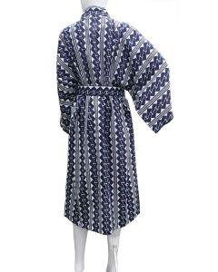 Yukata Kette XL, blau-weiss, kurz