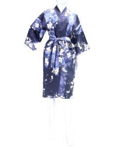 Happi - Kimono Sakura (Kirschblüte) blau, kurz