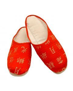 Pantoffel Hausschuhe Li Bai rot