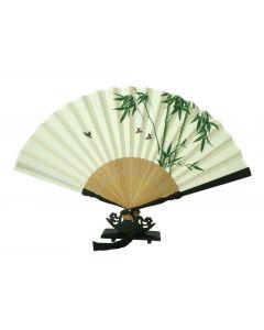 Herrenfächer Bambus beige