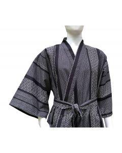 Kimono Japanisches Muster gefüttert nachtblau