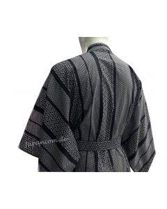 Herren / Männer Yukata Kimono Japanisches Muster, blauschwarz