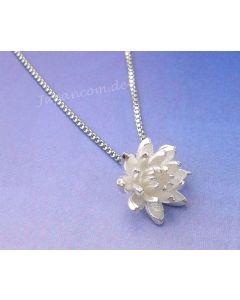 Silberkette mit Anhänger Lotusblume