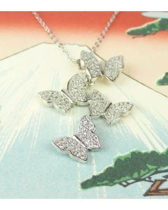 Silberkette Schmetterlinge