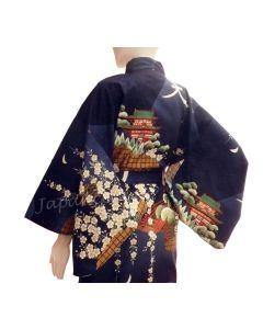 Japanischer Kimono Daimonji blau, Dame 1.