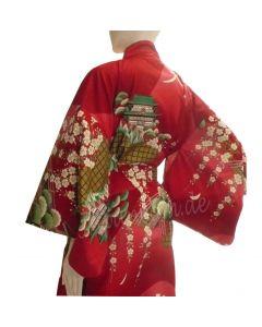 Damen Kimono Daimonji rot  aus Japan