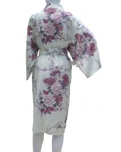 Kimono Flying Crane white short