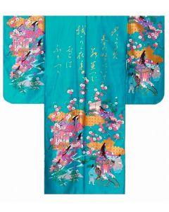 Kimono Furisode Princess türkis