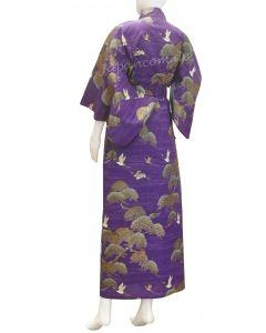 Kimono Kraniche & Kiefern purple