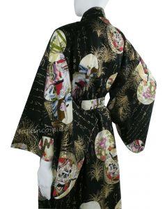Damen Kimono Prinzessin schwarz
