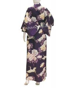 Kimono Royal Cranes lila lang