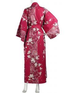 Kimono Sakura Kirschblüte gefüttert 135 cm lang-rot