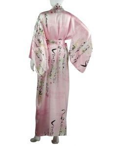 Damen Kimono Seide Fuji no hana pink lang