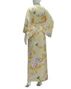 Kimono Yukata Royal Cranes yellow