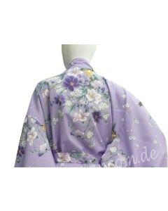 Happi Kimono Hana lila kurz