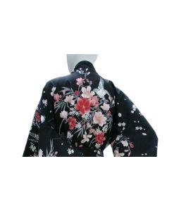 Happi Kimono Hana schwarz kurz
