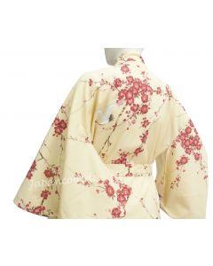 Kimono Cherry Blossom (Kirschblüte) beige, lang